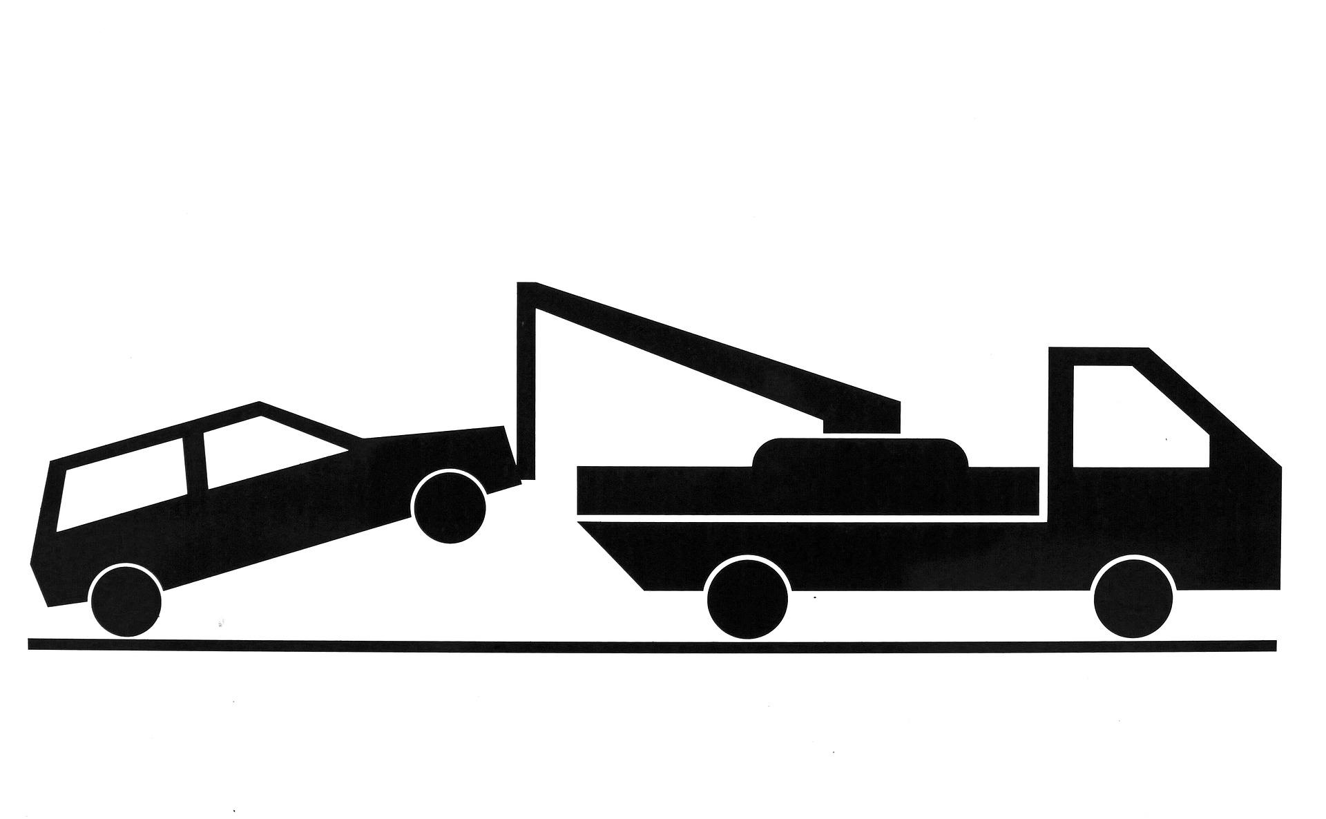Proces wciągania samochodu do najazdu